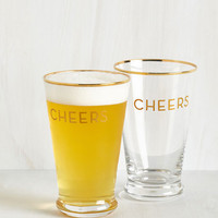 Sayings I Clink, Therefore I Am Glass Set by ModCloth