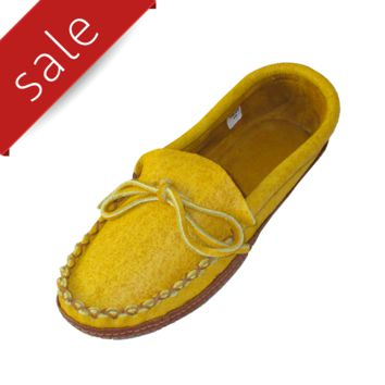 Men's Moosehide & Bison Leather Moccasins - 130M