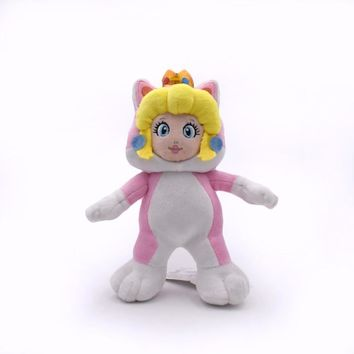 Super Mario party nes switch 18cm  NEW 3D World Princess Rosalina Pink Cat Plush Toys With Crown Cute Soft Stuffed Doll For Girl   AT_80_8