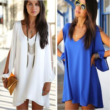 Womens Stylish Summer Loose Sexy Dress