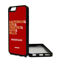 Apple iPhone 6 5C 5S 4S Generation Fitted Rubber Silicone TPU Phone Case Cover SF 49ers Niner Gang Kaepernick Willis Gore Crabtree Davis