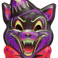 LARGE CRAZY CAT VAC-TASTIC PLASTIC MASK WALL DECOR