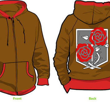 Attack on Titan Garrison Fleece Cosplay Hoodie