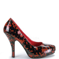 Funtasma Blood Splatter Black Zombie Pumps