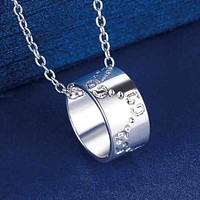 GUCCI Popular Women Men Personality Necklace Collarbone Chain Accessories I12388-1