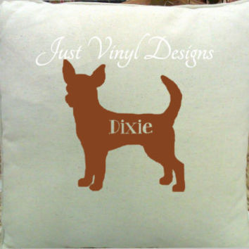 Chihuahua Pillow Cover, Personalized Pillow