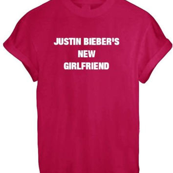 JUSTIN BIEBER NEW GIRLFRIEND SASSY CUTE LADY BELIEBER WOMEN T SHIRT TOP TEE NEW - RED
