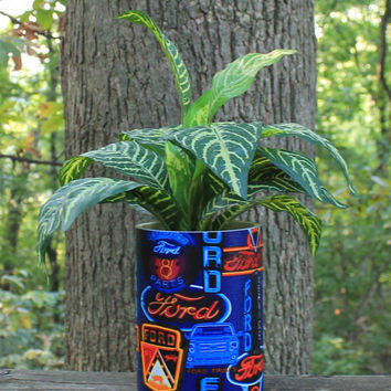 Ford in Neon Historic Style Designed Planter/Centerpiece by BFG. Great Indoor or Out Decor, Man Cave, Office, Porch.  Father's Day Gift Idea