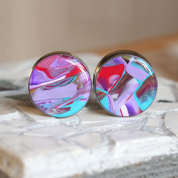 Gauges 25mm, Ear Gauges, Clay Art Plugs, Double Flare, Modified Ears - size 1 inch (25mm)