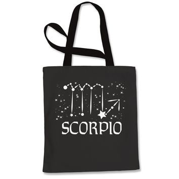 Scorpio Zodiac Star Chart  Shopping Tote Bag