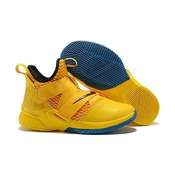 cheap for discount 3e1e8 37552 Nike LeBron Soldier 12 Gold Red