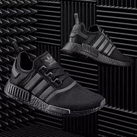 """Adidas"" NMD Black Red Boost Women Men Fashion Leisure Running Sports Shoes"