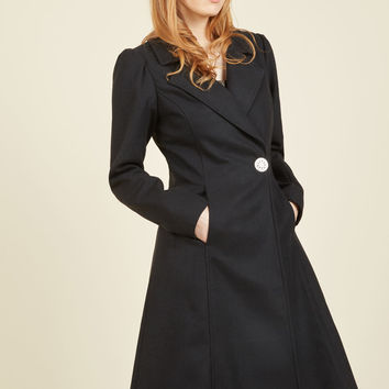Fall in Love Coat in Onyx | Mod Retro Vintage Coats | ModCloth.com