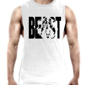 Running Vests Jogging Maxmessy Workout Tank Tops Low Cut Armholes Vest Fitted Tank Men Gym Fitness Tees Muscle Run Activewear Sports T Shirts MC095 KO_11_1