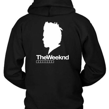 ESBH9S The Weeknd Siluet Two Hoodie Two Sided