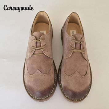 Careaymade-2018 Genuine Leather pure handmade shoes Mori girl department of literature retro shoes,Women's casual shoes,2 colors