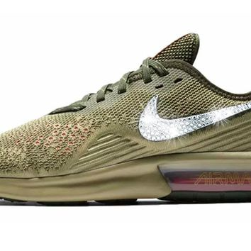 Nike Air Max Sequent 4 + Crystals - Neutral Olive 6c05ead8fe