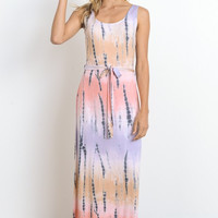 Tie Dye Maxi Dress - Lavender