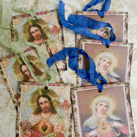 Religious Gift Tags Mystical Rose Virgin Mary Sacred Heart Jesus  Catholic Gift Tags