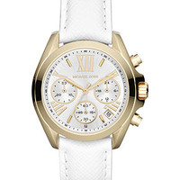 Michael Kors Watch, Women's Chronograph Bradshaw White Leather Strap 35mm MK2302 - Watches - Jewelry & Watches - Macy's