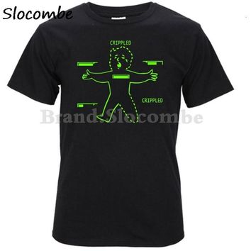 Funny Cheapest Round Collar Funny Tshirt Fallout 4 Vault Boy T-Shirt Crippled T Shirt Homme