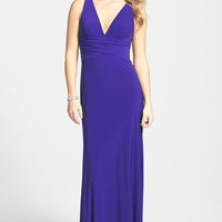 Women's Hailey by Adrianna Papell Embellished Strappy Back Gown