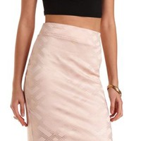 Foiled Geo Print Pencil Skirt by Charlotte Russe