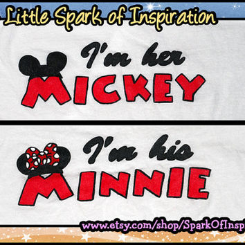His & Hers  I'm Her Mickey I'm His Minnie by SparkOfInspiration