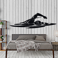 Wall Vinyl Decal Sport Swim Swimming Olympic Games Home Interior Decor Unique Gift z4399