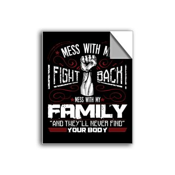 "FREE SHIPPING - ""Don't Mess With My Family"" Vinyl Decal Sticker (5"" tall) - Limited Time Only!"