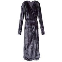 Attico Long-sleeved wrap velvet dress