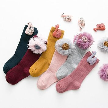 Newborn Infant Baby Girl Anti-slip Lace Cotton Socks Slipper Shoes Boots