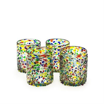 Bambeco Tumbler Glass Recycled Confetti (12x4 Pk)