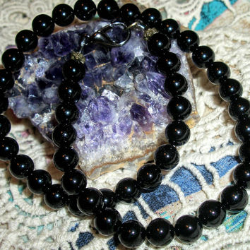 Men's Black Onyx Necklace