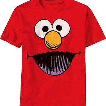 Sesame Street Wide Open Red Costume Licensed Adult T-Shirt S M L XL 2XL