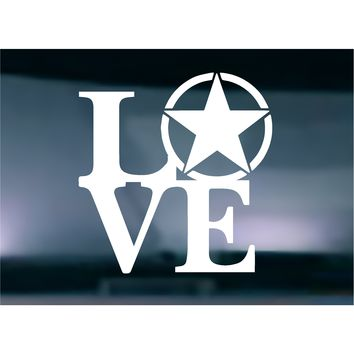 LOVE Army Vinyl Graphic Decal