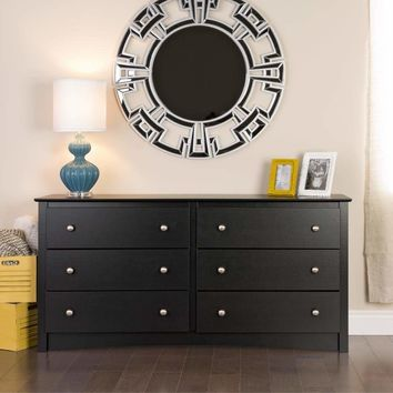 Black Sonoma 6 Drawer Dresser