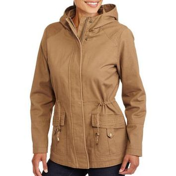 Faded Glory Women's Essential Canvas Anorak Jacket With Printed Lining - Walmart.com