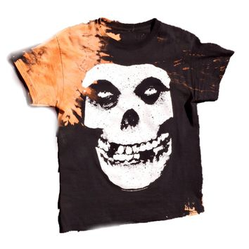 Hand Bleached Misfits Band Tee