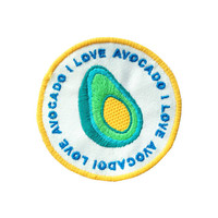 I love avocado iron on patch by Jess Warby