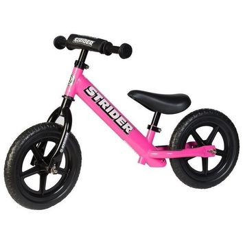 strider 12 sport kids balance bike no pedal learn to ride pre bike pink new