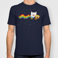 Nyan Time | Adventure Time vs Nyan Cat T-shirt by Olechka