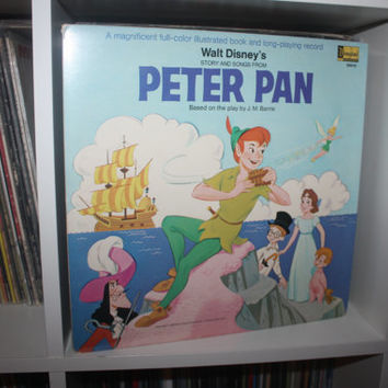 Walt Disney's Story and Songs from Peter Pan - Vinyl Gatefold LP Record - Children's Record -1969.
