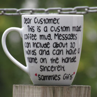 Custom message cup, Personalized message cup, Best friend gift, Wife Gift, Birthday Message, Missing you