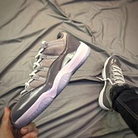 "Air Jordan 11 Retro AJ11 Low ""Cool Grey"""
