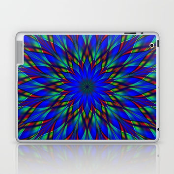 Stained glass flower mandala Laptop & iPad Skin by Natalia Bykova