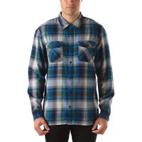 Vans Kepler Shadow Plaid Buttondown Shirt (Classic Blue)