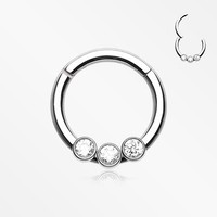 Sparkle Trio Seamless Clicker Ring