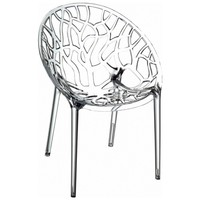 Crystal Polycarbonate Modern Dining Chair Transparent (Set of 2)