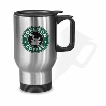 Pokeman Coffee Starbuck Coffee Parody Stainless Mug